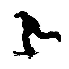 270x270 Skateboarder Silhouette Stencil Free Stencil Gallery