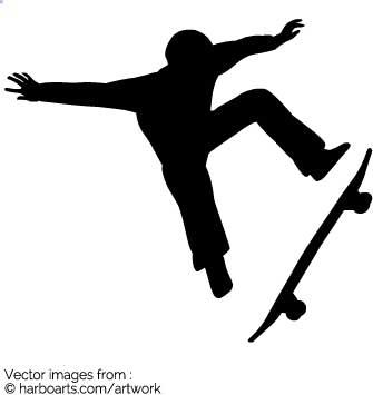 335x355 Download Skater Kickflip Silhouette