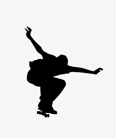 381x454 Skateboard Silhouette, Skateboard, Movement, Sketch Png And Vector