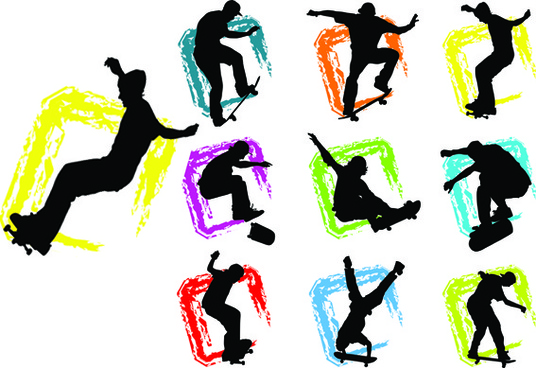 536x368 Skateboard Silhouette Free Vector Download (5,431 Free Vector)