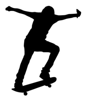 287x330 Skateboarder Silhouette 4 Decal Sticker