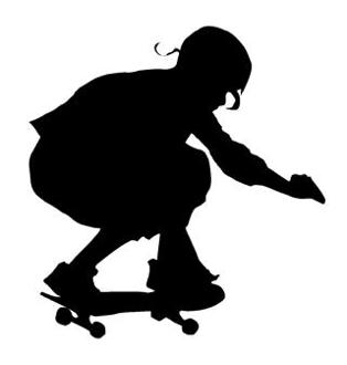 314x330 Skateboarder Silhouette 8 Decal Sticker