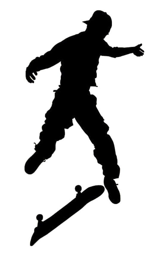 500x862 Skater Skateboarder Silhouette Kids Room Decoration Vinyl Wall