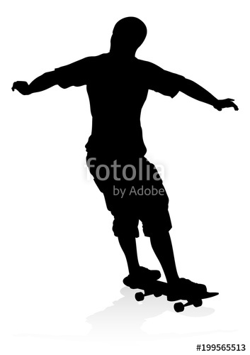 353x500 Skater Skateboarder Silhouette Stock Image And Royalty Free