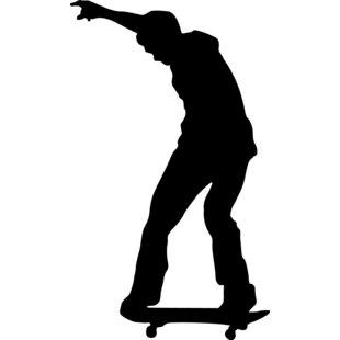 310x310 Wallhogs Skateboard Silhouette Ii Cutout Wall Decal Wayfair