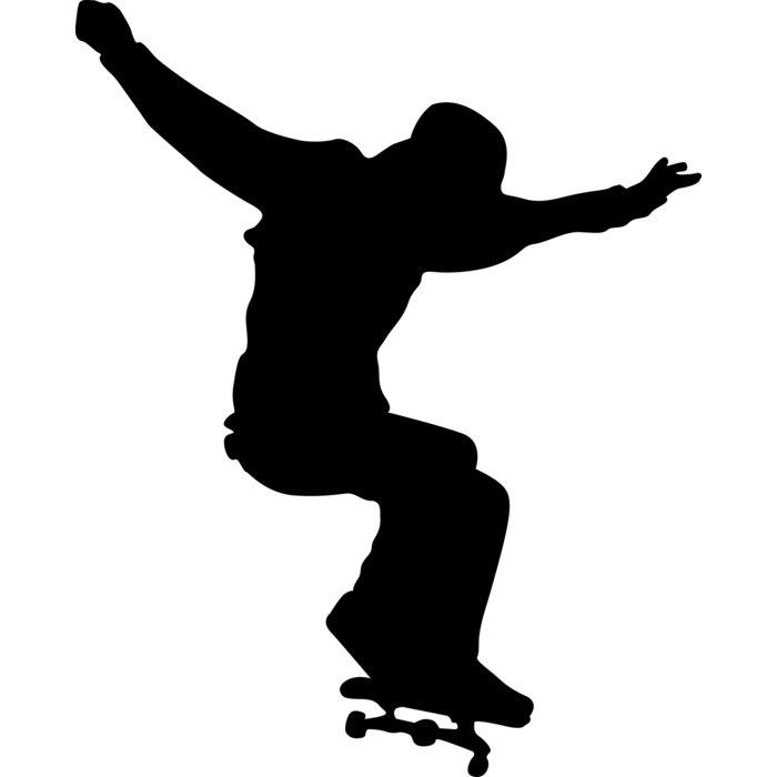 700x700 Wallhogs Skateboard Silhouette Ii Cutout Wall Decal Amp Reviews