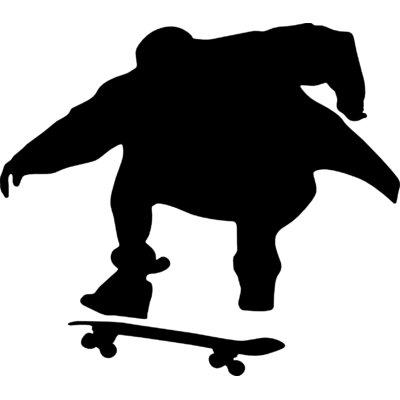 400x400 Wallhogs Skateboard Silhouette Iii Cutout Wall Decal Wayfair