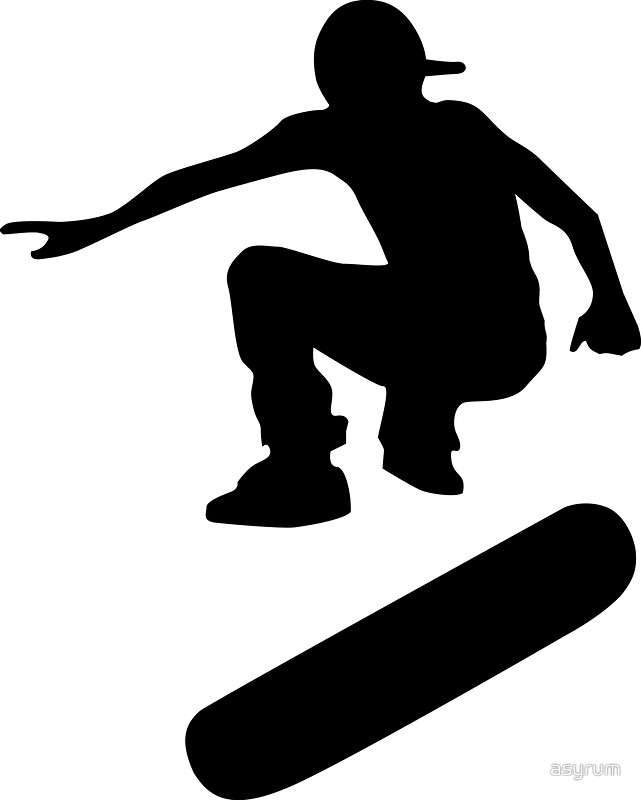 641x800 Skateboard Silhouettes (Large) Stickers By Asyrum Redbubble