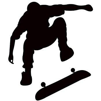 350x350 Skateboarding Silhouette Wall Decal By Wallmonkeys