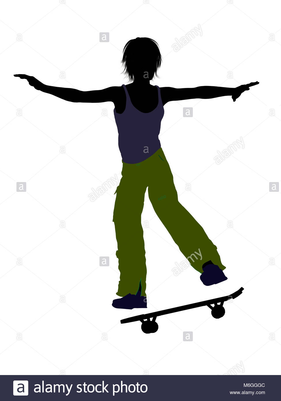 975x1390 Male Skateboarder Illustration Silhouette On A White Background
