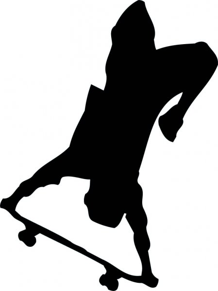 449x600 Pix For Gt Vintage Skateboard Silhouette Skate Competition
