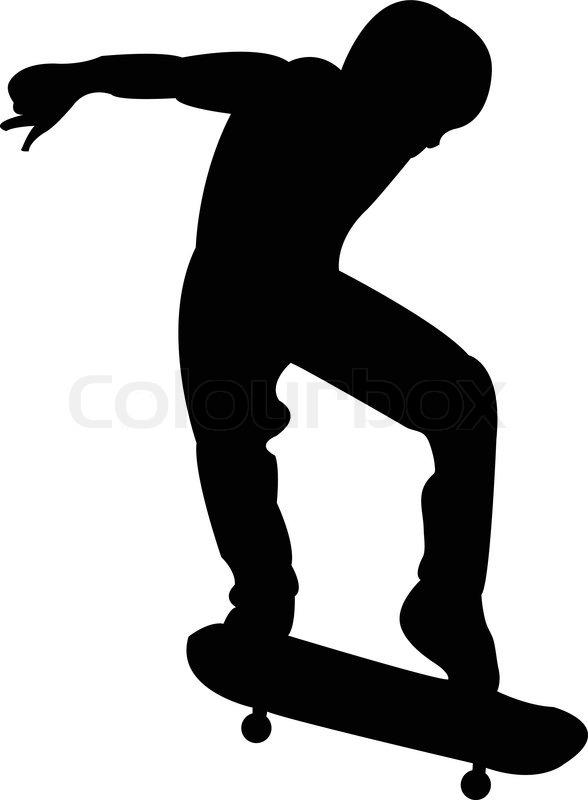 Skateboarder Silhouette Clip Art