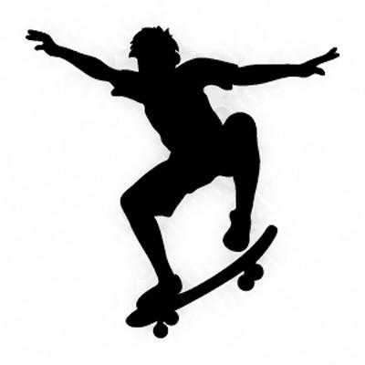 400x400 Skateboarder Silhouette Portrait Silhouette, Wood