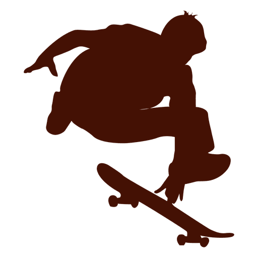 512x512 Skateboarding Jump Silhouette