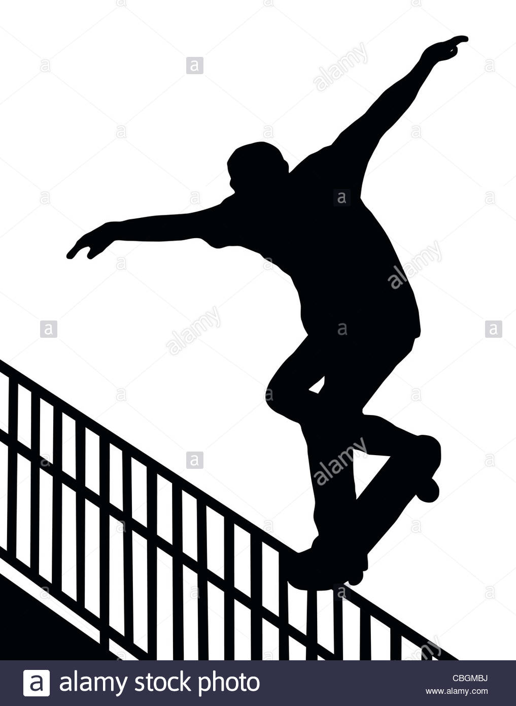 1017x1390 Skateboarding Skater Do Nosegrind Rail Slide With Board Silhouette