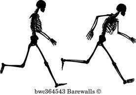 276x194 Art Print Of Dancing Skeleton Silhouette Barewalls Posters