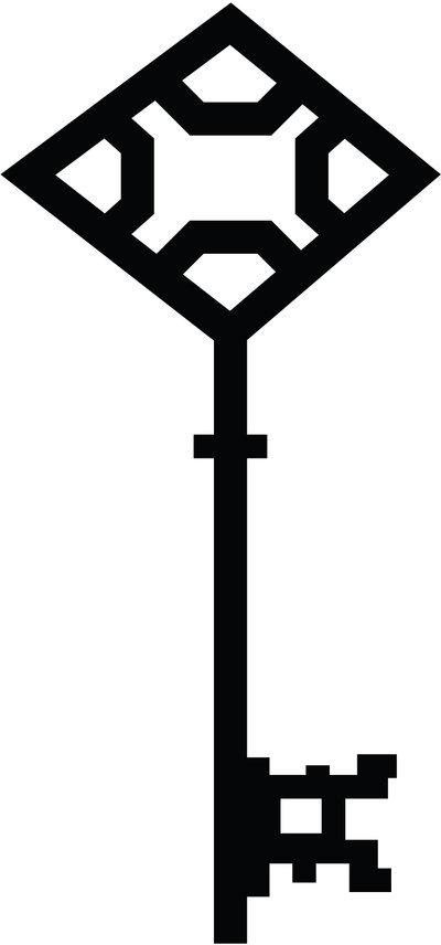 400x856 Skeleton Key Silhouette 10 By Taeliac Stock