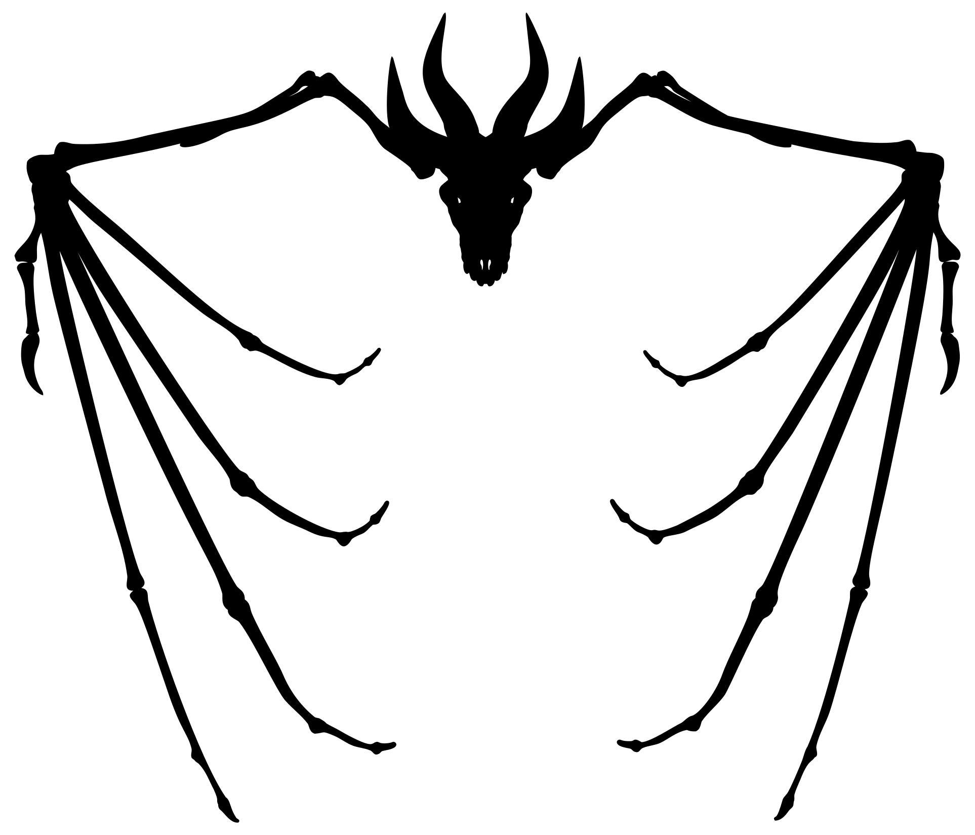 1926x1649 Dragon Skeleton Silhouette Clipart