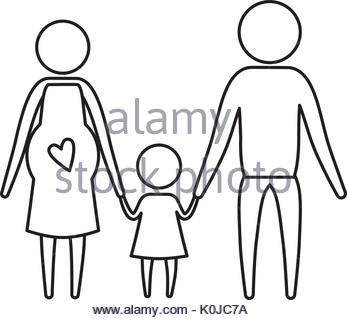 347x320 Sketch Silhouette Faceless Couple Girl With Pigtails Hair And Boy