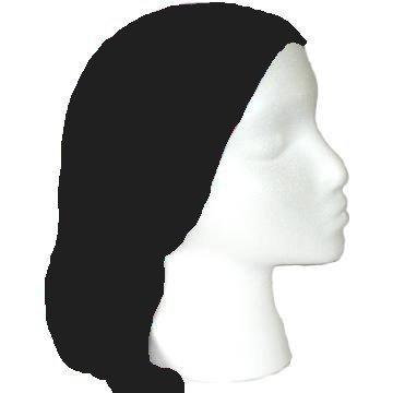 360x360 Plain Black Tube Scarf For Biker Ski Mask Jogging Or Under Helmets