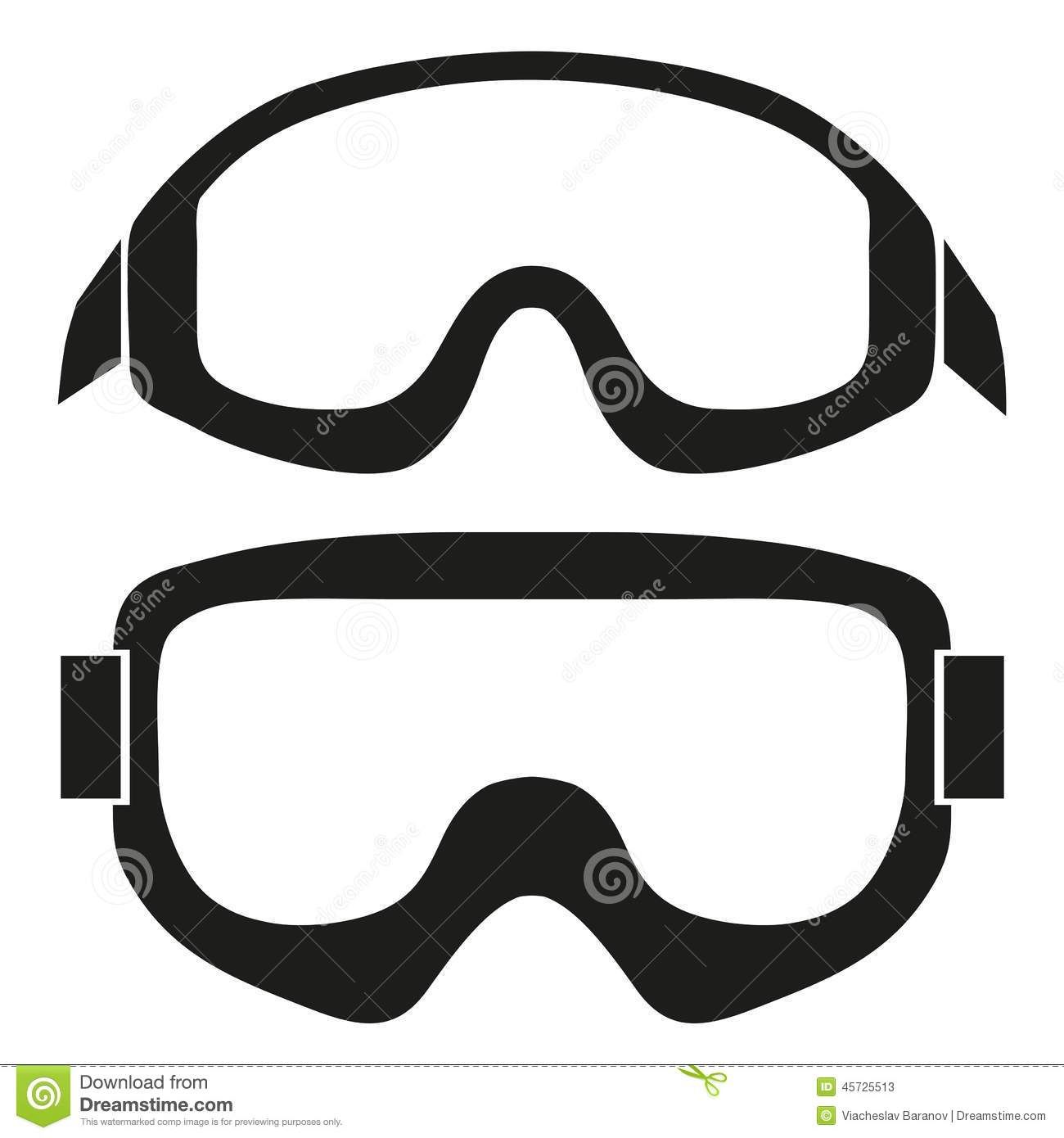 1300x1390 Silhouette Symbol Of Classic Snowboard Ski Goggles