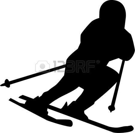 450x443 Ski Run Silhouette Isolated Vector Olympialaiset