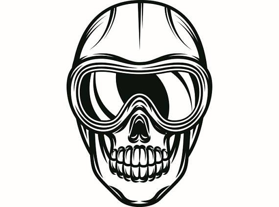 570x423 Snow Skiing Skull