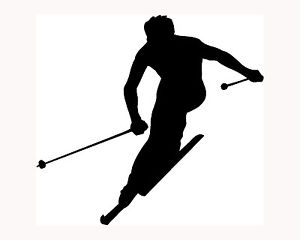300x240 Ski Sticker Skier Silhouette Car Window Vinyl Decal Extreme Sports