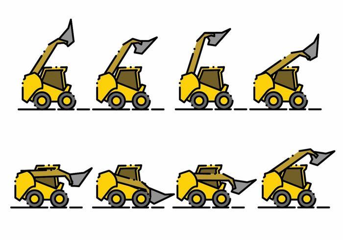 700x490 Minimalist Skid Steer Icon Set
