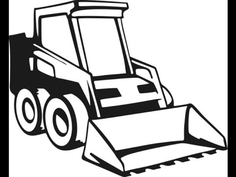 480x360 Skid Steer Clipart Black And White