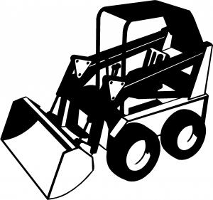 300x281 Skid Steer Loader Construction Car Or Truck Window Decal Sticker