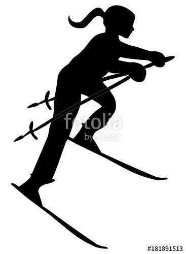 367x500 Silhouette Of Female Skier