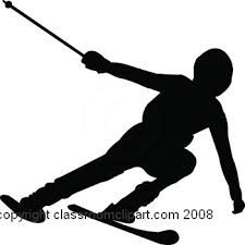 225x225 Silhouette Set Of Different Winter Sports Skiing Part 1 Stock
