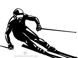 310x233 Skier Silhouette Clip Art Free Vectors Ui Download