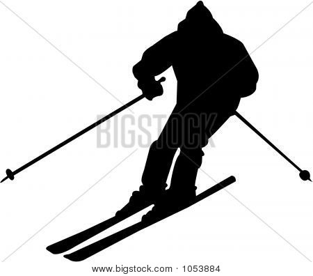 450x396 Skiing Clipart Silhouette