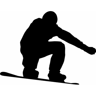 320x320 Snowboarding Clipart Silhouette