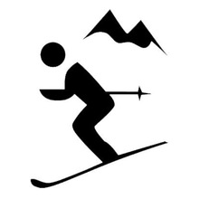 220x220 Buy Skier Silhouette And Get Free Shipping