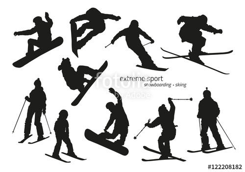 500x351 Winter Extreme Sport Silhouette
