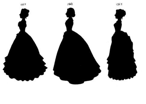 485x346 Victorian Silhouettes 1857 67 By Lady Of Crow Hoop Skirt