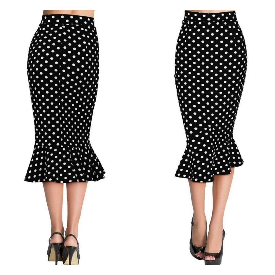 900x900 Savoir Faire Skirt In Polka Dots Bitter Root Vintage