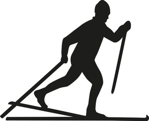 300x243 Cross Country Skiing Silhouette Clipart. Cross Country. Cross