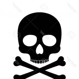 300x300 Photostock Vector Skull Vector Silhouette Crossbones Skull Death