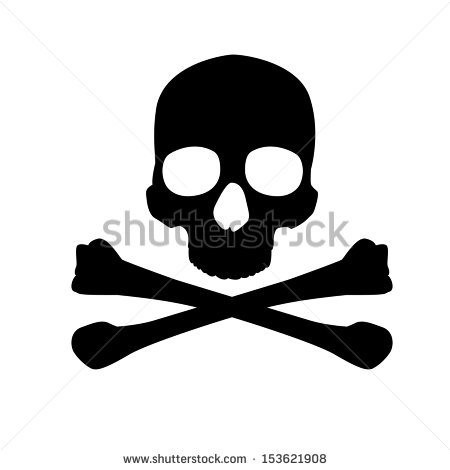 450x470 Crossbones Silhouette Elegant 10 Skull And Crossbones Vectors