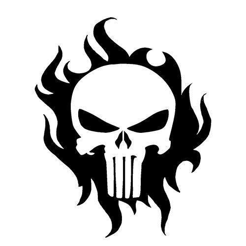 500x500 Punisher Skull Die Cut Vinyl Decal Pv1139 Svg