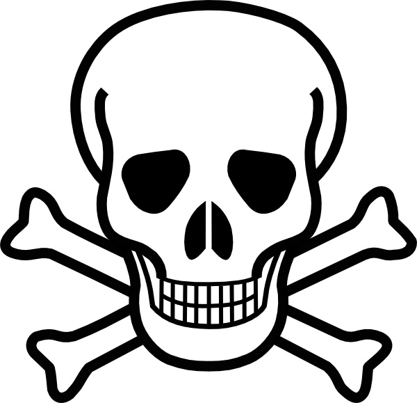 600x579 Skull And Crossbones Clip Art Free Vector In Open Office Drawing