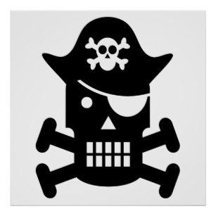 307x307 Skull Silhouette Posters Zazzle