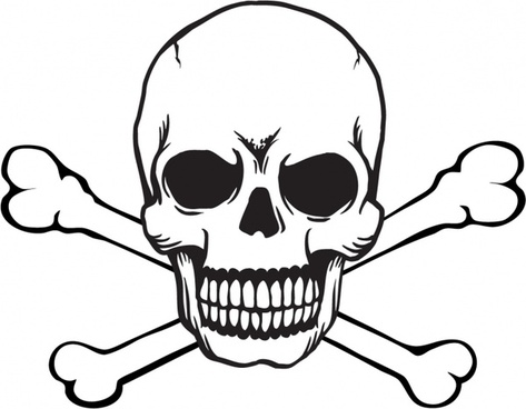 skull and crossbones silhouette at getdrawings com free for rh getdrawings com skull and crossbones clip art free download skull and crossbones clip art free download