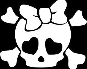 340x270 Skull Bow Crossbones Etsy