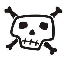 220x200 Free Vector Skull And Crossbones Skull And Crossbones