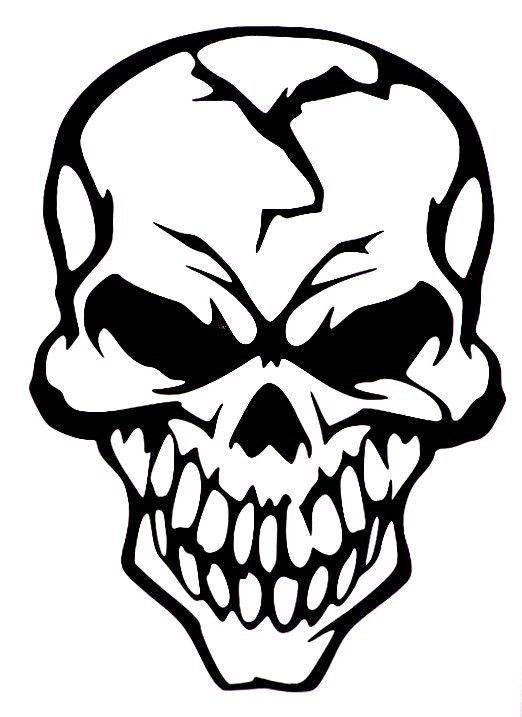 522x717 Evil Skull Of Death Car Truck Window Vinyl Decal Sticker 10 Colors